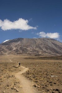 Hiking up Mount Kilimanjaro, Tanzania