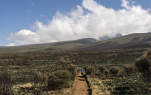 The lower slopes of Mount Kilimanjaro, Tanzania