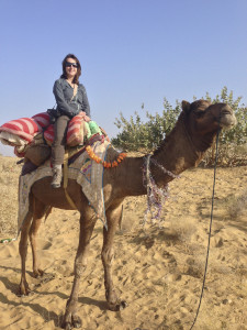 Me Camel Riding, Rajasthan, India