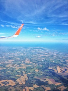England from Plane