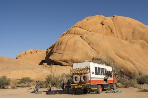 Dragoman truck in Namibia