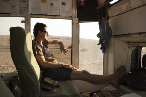 Andrew on Dragoman overland trip, Namibia