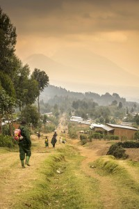 En route to see the Mountain Gorillas, Rwanda